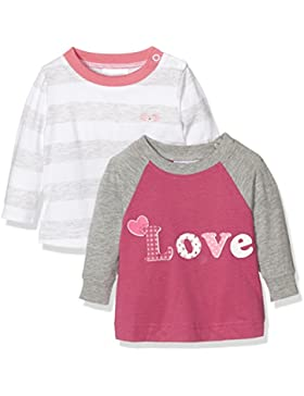 Twins Baby-Mädchen Langarmshirt Shirt im 2er Pack