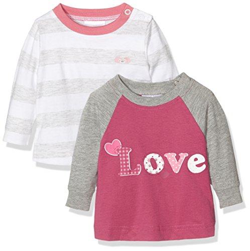 Twins Baby-Mädchen Langarmshirt Shirt im 2er Pack, Mehrfarbig (Mehrfarbig 3200), 56