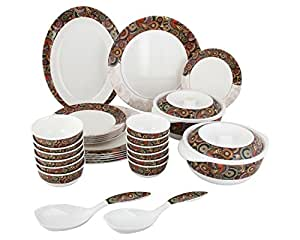 ... Servewell Dora Tribal Paisley Melamine Dinner Set - 31 Pieces - Multi-Colour  sc 1 st  Amazon.in & Buy Servewell Dora Tribal Paisley Melamine Dinner Set - 31 Pieces ...