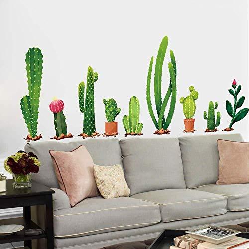 3D-Vielfalt von Cactus Green Plant Wandaufkleber Kinder Schlafzimmer Wohnzimmer Familie dekorative Vinyl abnehmbare Abziehbilder