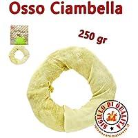 Hueso para Perros rosquilla Blanca 250gr diámetro 18cm ferribiella
