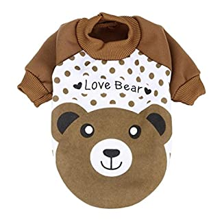 sunnymi Cute Little Pet Dog Clothing Lovely Small Puppy Pet Dog Cat Clothes Hoodie Autumn Winter Warm Sweater Coat… 7