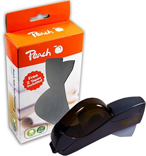 Peach PO101 Tape-Dispenser | Halbautomatischer Klebebandspender |12mm - 19mm Rollenbreite | inkl. 2 Rollen | handlich - praktisch - präzise