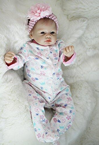 HOOMAI 22inch 55CM Bebe Reborn niña Silicona Real muñecas Girls magnetismo Juguetes Ojos Abiertos Baby Doll