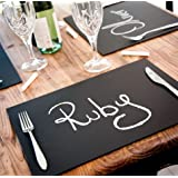 Chalkboard Place Mats set of 8 Ideal for dining entertainment