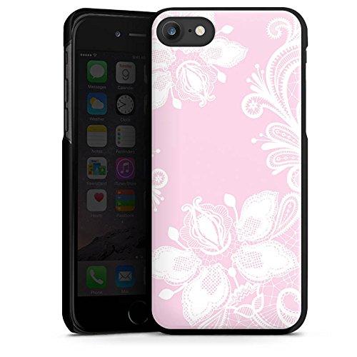 Apple iPhone 5c Silikon Hülle Case Schutzhülle Blumen Spitze Muster Hard Case schwarz