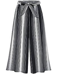 BoBoLily Mujer Pantalones Baggy Fashion Anchos Flecos Pantalones Palazzo  Elegantes Pantalones Verano Chic Elastische Taille Pantalones 0c1a07fe2739