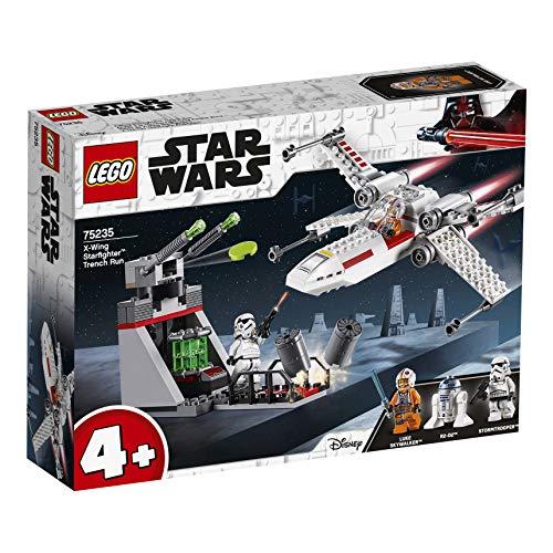 513dFWG cEL - LEGO Star Wars - Asalto a la Trinchera del Caza Estelar Ala-X, juguete de construcción de nave espacial de La Guerra de las Galaxias (75235)