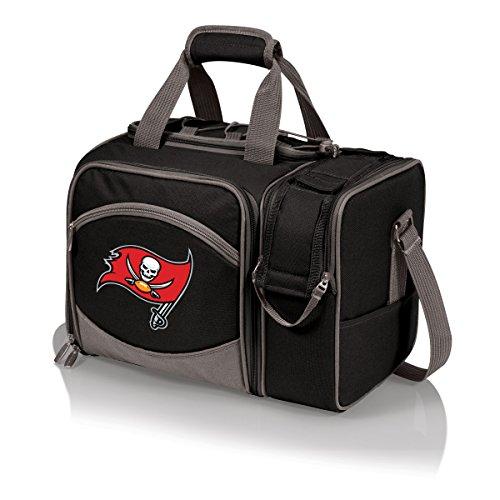 NFL Tampa Bay Buccaneers Malibu Isolierte Schultertasche mit Deluxe-Picknick-Service für Zwei Personen - Malibu Bay