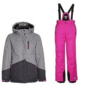 Killtec Skianzug Schneeanzug Nera Jr – Ski Set Mädchen Grau-Pink