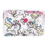 Faliya Einhorn Serie Transparente PVC Kosmetiktasche multifunktions Aufbewahrungstasche Wash Handtasche Lippenstift Make-Up Veranstalter Wasserdichte Tasche Aufbewahrungstasche, 2#
