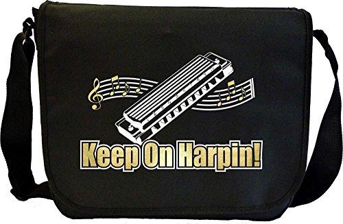 Harmonica-Keep-On-Harpin-Sheet-Music-Document-Bag-Musik-Notentasche-MusicaliTee