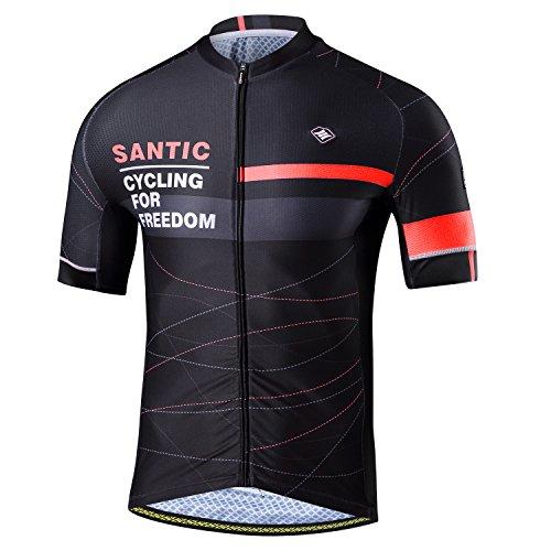 SANTIC Maillot Bicicleta Hombre