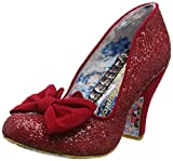 Irregular Choice Women's Nick Of Time Closed Toe Heels, Red (Red Glitter Grey), 6.5 UK 40 EU