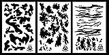 Acid Tactical® 3pezzi–23x 35cm camouflage Airbrush stencil per vernice spray–barche Cars (esercito, TAC, Tiger Stripe camo)