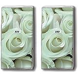 Mouchoirs 20 (2 x 10)-hochzeitsrosen wedding roses blanc/mariage/roses/motivtaschentücher