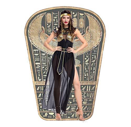 Cleopatra Kostüm Göttin Ägyptischen - Hcxbb-b Halloween-Kleid, Frauen Cleopatra Dress Up, Alte Ägyptische Mythische Göttin, Cosplay-Kostüm, Festival-Performance-Zeremonie (Size : XL)