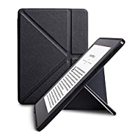 WALNEW New Origami Case Cover for Amazon Kindle Voyage (November 2014) - PU Leather Vertical Stand Case with Safe Magnetic Closure and Auto Sleep/Wake Function, Black
