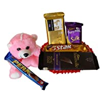 SFU E Com Women's Day Chocolate Basket Hamper | Womens's Day Chocolate Gift | Women's Day Special Chocolate Gift Hamper | Pack of Chocolate Box -1 | 274