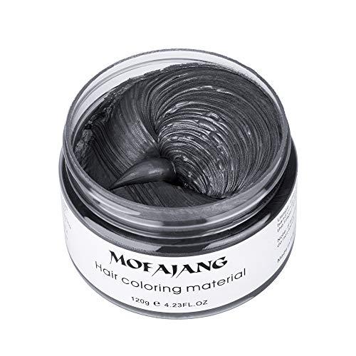 Cera capelli crema colorante per capelli colore temporaneo modellante lunga durata per diy colorare e modellare(120g) (nero)