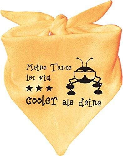 KLEINER FRATZ KLEINER FRATZ Baby Halstuch Meine Tante ist viel cooler als deine/AUNTI / Fb. Gelb