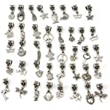 Pinzhi 40x Abalorio Cuentas DIY Jewelry Accesorios Brazalete Pulseras Plata Tibetanas