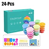 #4: 24PCS Kid's Color Clay Non-Sticky Clay Toy Air Dry Clay Modeling Clay for Kids (Random Color)