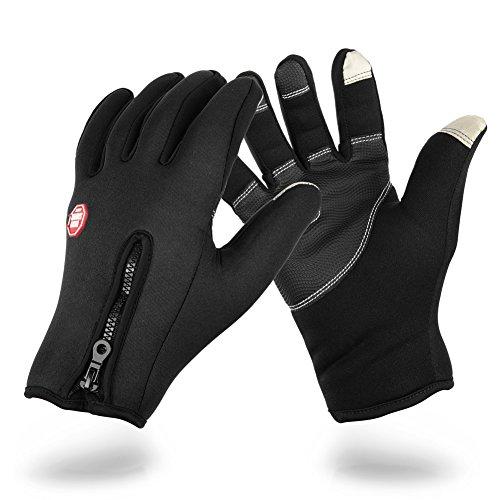 Vbiger TouchscreenHandschuhe Sport Handschuhe Fahrradhandschuhe Handy Handschuhe Motorrad Handschuhe mit Fleecefutter für Winter - 9