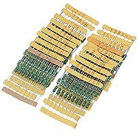 CNBTR - Rueda inductora de color para inductor de 1/2 W (200 unidades, 1 UH~4,7 MH, 20 valores)