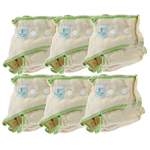 Blümchen Stoffwindel Höschenwindel 6 Stück BioBaumwolle Größe S