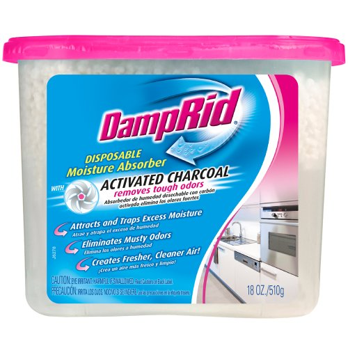DampRid Moisture Absorber with Activated Charcoal, 510g (18oz) (1 Pack)