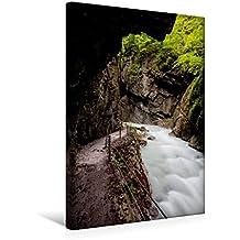 Calvendo Premium Textil-Leinwand 30 cm x 45 cm hoch, Ein Motiv aus Dem Kalender Impressionen aus der Partnachklamm | Wandbild, Bild auf Keilrahmen, Fertigbild Leinwand, Leinwanddruck Natur Natur