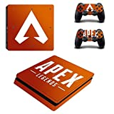 Skin Sticker - PS4 Slim Sticker Skin Apex Legends Sticker für Sony PlayStation4 Slim PS 4 Slim Konsole und Controller Skins Vinilo Pegatinas für PS4 Slim Skin, PS4 Pro Skin, PS4 Skin Sticker A78