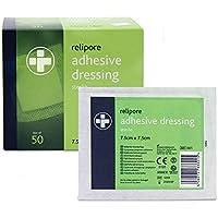Reliance Medical relipore Sterile selbstklebend Dressing Pads, 7,5cm Länge x 7.5cm Breite Box von 50 preisvergleich bei billige-tabletten.eu