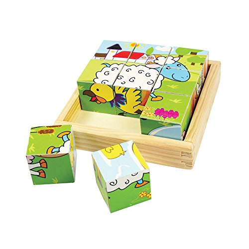 Bigjigs Toys Puzzle cube animaux