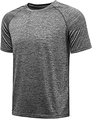 KomPrexx Sport T Shirts for Men - QUICK DRY WICKING - Running Tops Training Tee Short Sleeve Sportswear