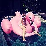 Riesige aufblasbare Schwimmer, am besten billigsten großen Pool aufblasbaren Fluss schwimmt, 2 Person River Raft von Lounge Pool für Erwachsene, aufblasbare Raft Boote Kajak, schwimmende Ride, Lounge Chair (Rosa Flamingo)