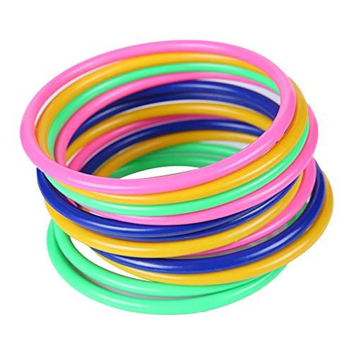 12PCS / Set Fun Game Intelligenz Lernspielzeug Stacking Plastic Hoopla Ring-Wurf Guss Werfen Kreis Set Spielzeug