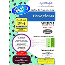 WIZ Spell Bee - Category 3 (Class 3/4/) - HOMOPHONES workbook for STATE LEVEL preparation