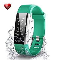 OMNiX™ ID115 Plus HR Smart Wristband Heart Rate Monitor with 0.96 Inch OLED Display (Green)