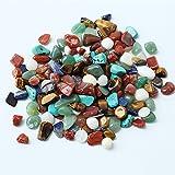 1sacchetto 100g colorati misti forma irregolare Tumbled Stones Rock gemma perline gemme di vetro per tavolo, cubetti di ghiaccio finto gemme preziose vase Fillers