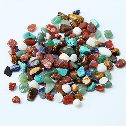 1Tasche 100g bunt gemischt Unregelmäßige Form Trommelstein Stones Rock Glas Beads Edelsteine für Tisch Scatter, Fake Eiswürfel Gems Edelsteine Vase Füllstoffe (Glas-edelsteine Multi-farbigen)