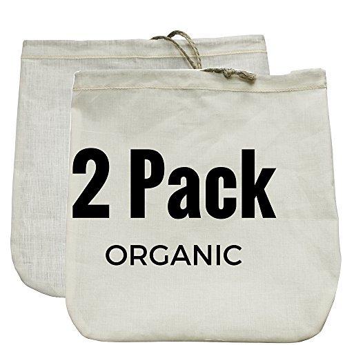 Gaia Guy Nussmilchbeutel 2Pack. handelsüblicher Qualität & wiederverwendbar–30,5x 30,5cm