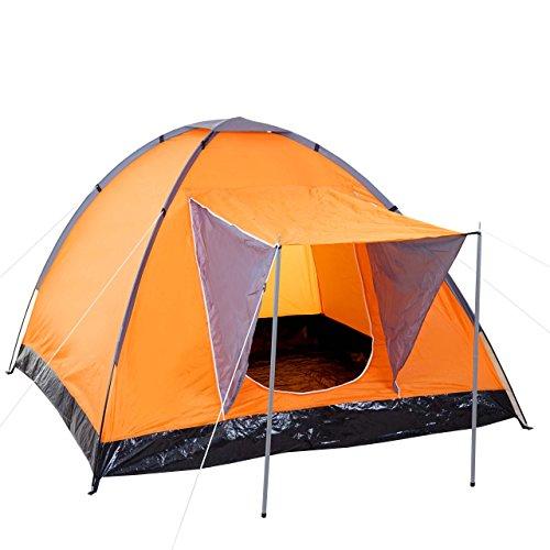 Campingzelt Loksa, 2-Mann Zelt Kuppelzelt Igluzelt Festival-Zelt, 2 Personen ~ orange