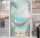 PVCOLL Fensterfolien 3D Glasfoliedh Elektrostatische Lichtundurchlässige Wasserdichte Sonnencreme Fingerprint Baum Schlafzimmer Fenster Schiebetür Bad Glaspaste Film