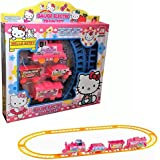 Hello Kitty Electric Train Railway - Action Figure Cute Cartoon - Track Toy For Kid's