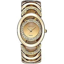 OUMOSI Luxury Women Rhinestone Quartz Watch Hollow Out Design Female Wristwatches