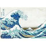 Póster 70 x 50 cm: Great wave de Kitagawa Utamaro - impresión artística de alta calidad, nuevo póster artístico
