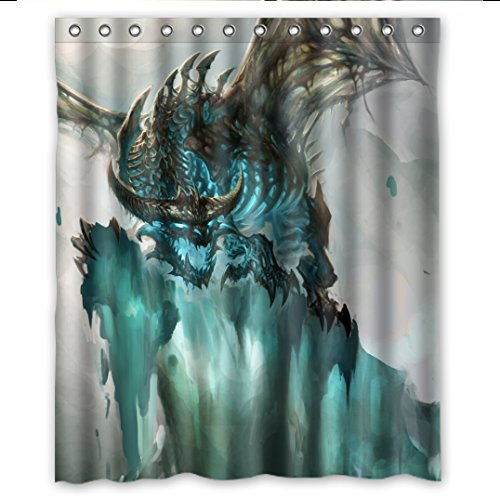 t Drachen Dragon Wasserdichtes Polyester Duschvorhänge Shower Curtain 152cm x 183cm ()