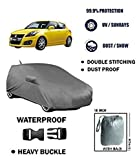 #9: TGP Group Car Body Cover for Maruti Suzuki New Swift with Antenna Mirror Pocket and Microfiber Gloves - 2by2 Grey Colour - Waterproof